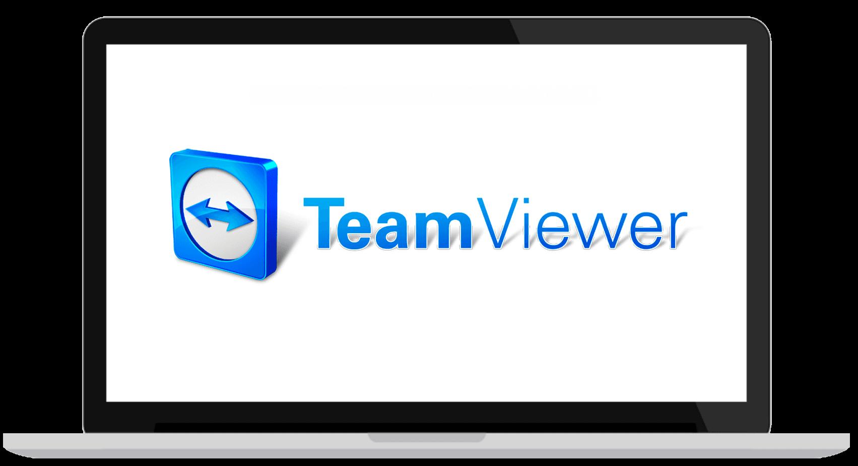 Teamviewer illustrasjon på bærebar